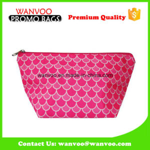 Dumpling Shape Pink Luxury Nylon Cosmetic Bag with Zipper pictures & photos