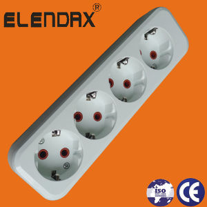 Ce Certificates German Type Socket with Cable Exetension (E8004E) pictures & photos