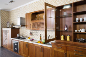 Cherry Solid Wood Kitchen Cabinet pictures & photos