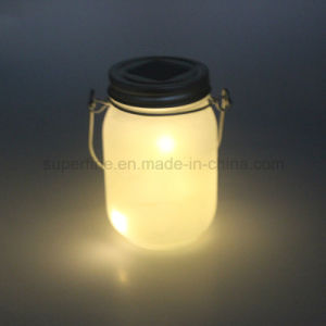 Environmental Solar Powered Frosted Glass Blink Jar Hanging LED Garden Light pictures & photos