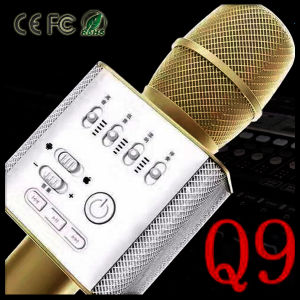 Q9 Wireless Bluetooth Karaoke Player Microphone Speaker KTV Effect USB Player pictures & photos