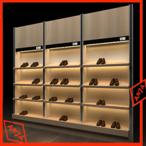 MDF Shoes Display Rack Stand pictures & photos