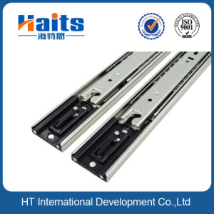 New Design Drawer Slide with Locking Mechanism Zinc Plated Finish pictures & photos