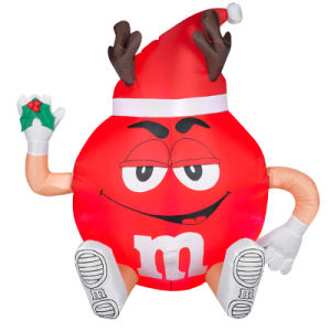 Fabric Christmas Holiday Promotion Inflatable Cartoon Ball for Decoration or Sales pictures & photos