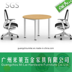 Fashion Steel Foot with Melamine Top Office Negotiation Table pictures & photos