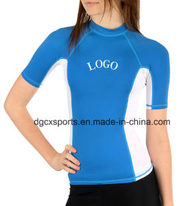 Lady′s Lycra Rash Guard with UV Protection pictures & photos