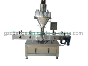 Fully Automatic Jar Bottle Powder Filling Capping Labeling Machine pictures & photos