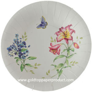 Butterfly Flower Dinner Paper Plate pictures & photos