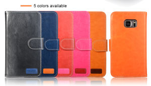 Top Quality Flip Wallet PU Leather Case with Business Card Holder Case for iPhone 7 7plus for S7 pictures & photos