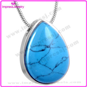 Water Drop Urn Pendant Necklace for Ashes Keepsake with Rhinestone (IJD8476) pictures & photos