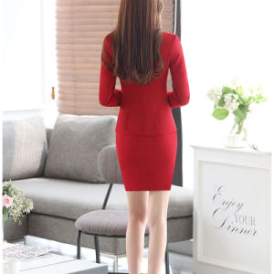 Fashion Women Office Uniform Business Suits of T/R pictures & photos