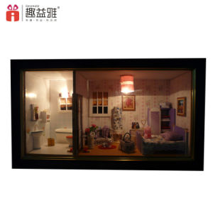 2017 Popular Promotional Gift Mini Wooden Doll House pictures & photos