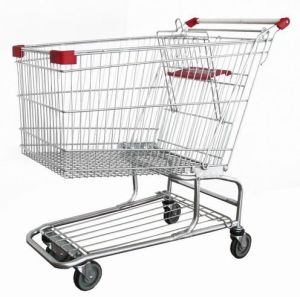 Metal Supermarket Shopping Trolley Galvanzied pictures & photos