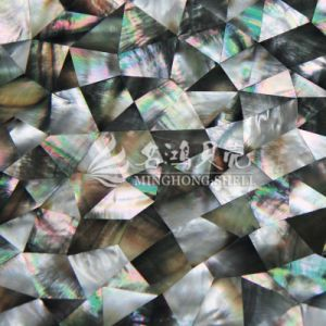 Black Lip Mop Shell Irregular Triangle Mosaic Tile pictures & photos