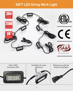 SAA/Ce/ETL 50FT LED String Work Light pictures & photos