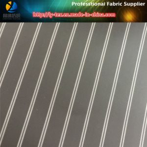 Black Cheap Polyester Stripe Lining Fabric for Men Jacket (S19.65) pictures & photos