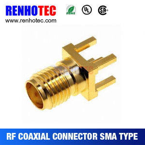 50 Ohm PCB Connector Through Hole Type SMA Straight PCB Jack Female pictures & photos
