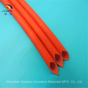 Electrical Insulation E-Glass Fiber Glass Silicon Resin Sleeving pictures & photos