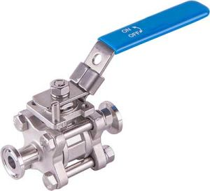 Stainless Steel 3-Piece Tri-Clamp Ball Valve with Lock and Mount pictures & photos
