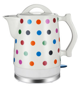 Electric Ceramic Kettle 360 Degree Cordless Stainless Steel Decorate pictures & photos