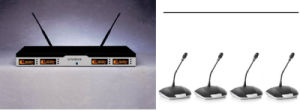 Gymsense Professional Conference Room Sound System UHF Wireless Microphone pictures & photos