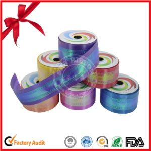 Holographic Craft Metallic Surface Ribbon Roll pictures & photos