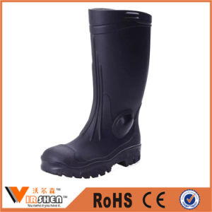 Men Fashion Rubber Boots with Low Heels Scrub Rain Boots pictures & photos