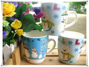 New Design with Beautiful Flowers for Ceramic Milk&Coffee Mug pictures & photos