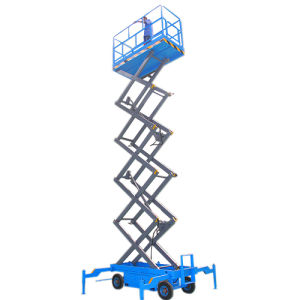 10m Mobile Scissor Lift Platform for Outdoor Installation and Maintenance pictures & photos