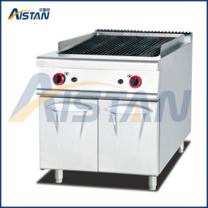 Gh989 Gas Lava Rock Grill with Cabinet of Catering Equipment pictures & photos