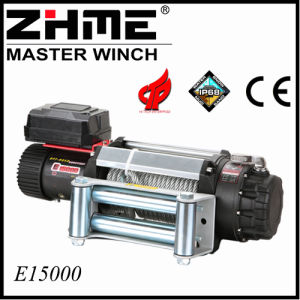 15000lbs 4X4 12V Electric Winch with Wire Rope pictures & photos