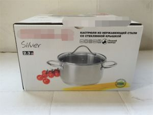 18cm Ready Stock Stainless Steel Cookware Casserole with Lid pictures & photos