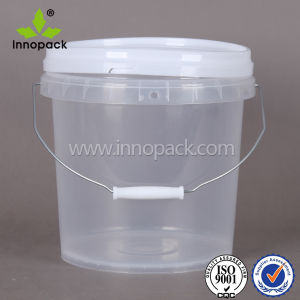 1L 2L PP Food Grade Transparent Plastic Bucket with Handle and Lid Innopack Design pictures & photos