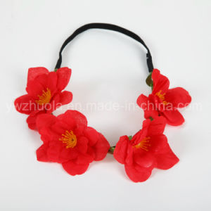 Hot Sale Fabric Silk Flowers Headband for Decoration pictures & photos