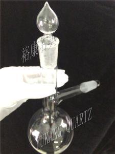 Customized Quartz Glass Distlling Flask with Quartz Ground Joint Stopper pictures & photos