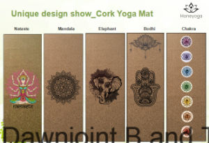 Eco-Friendly Natural Cork +Natural Rubber Yoga Mat, Totally Anti-Slip and Antimicrobial Yoga Cushion pictures & photos