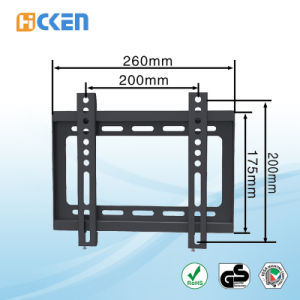 Max Loading Weight 30kgs (66LBS) TV Wall Mount Bracket pictures & photos