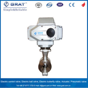 Self-Cleaning Semi-Ball Electric Ball Valve pictures & photos