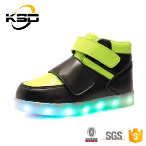 2016 Latest Kids Waterproof LED Light up Kids Shoes Customized Simulation LED Shoes