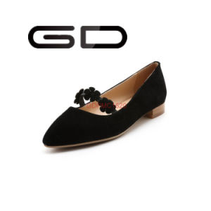 Point Toe Flat Shoes Rubber Outsole Shoes pictures & photos