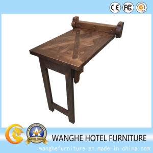 Commercial Solid Wood Modern Wall Restaurant Bar Table for Single pictures & photos