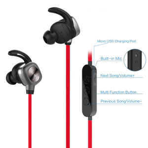 Magnetic Function Waterproof Sweatproof Sport Wireless in-Ear Bluetooth Headset pictures & photos