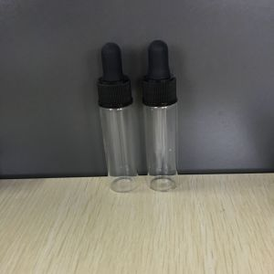 1 / 2 Oz Flint Glass Vials with Black Glass Droppers