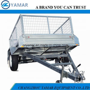 Utility Tipping Trailer with Cage pictures & photos