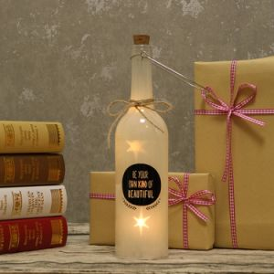 Battery Operated LED Light up Star Starlight Bottle Wording Gift Idea Low Voltage pictures & photos