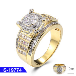 Wholesale New Design Fashion Jewelry 925 Sterling Silver Hip Hop Iced out CZ Ring for Women pictures & photos