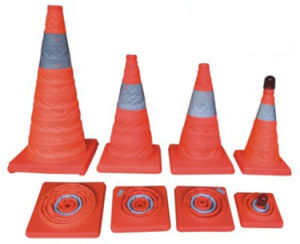 Elastic Retractable Traffic Cone/Collapsible Traffic Cone/Folding Traffic Cone pictures & photos
