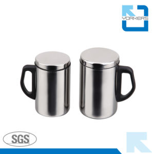 Hot Sales stainless Steel Cup/Milk Cup with Lid and Handle pictures & photos