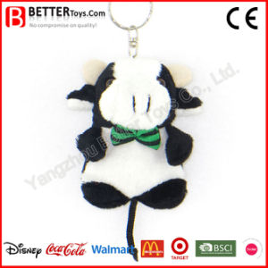 China Cheap Stuffed Plush Animal Cow Toy Keychain pictures & photos
