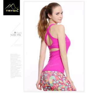 Sexy Backless Yoga Tank Tops Plain Vests Fitness Stringer for Lady